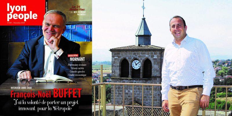 François-Noël Buffet et Mornant en couverture du nouveau Lyon People - - Lyon People