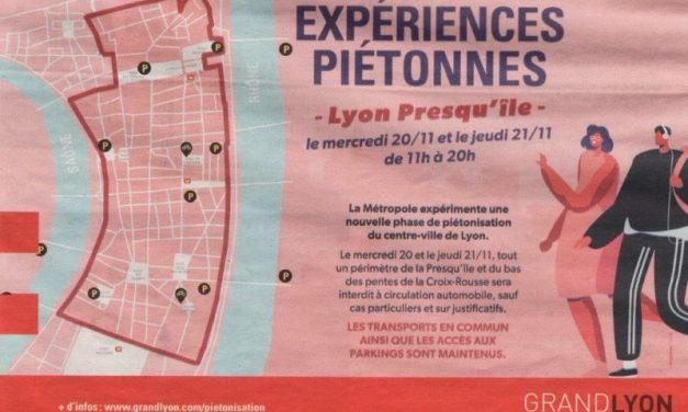 Lyon. La Presqu'île interdite aux automobiles durant deux jours