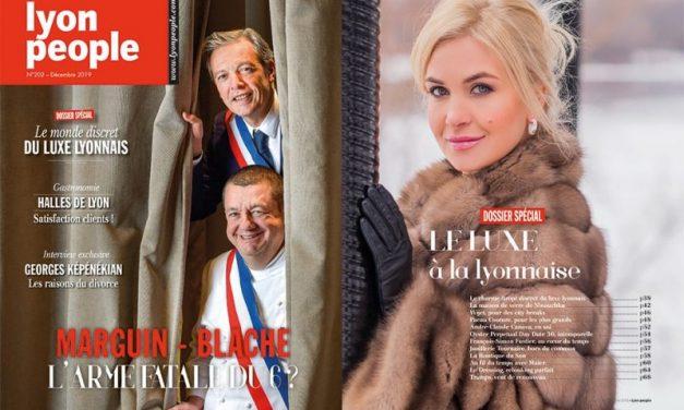 Christophe Marguin. Le joker de Pascal Blache en couverture de Lyon People