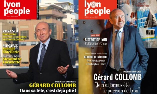 Gérard Collomb en couverture du magazine Lyon People