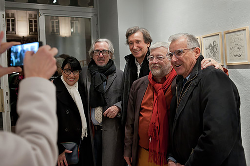 Galerie Dettinger. Du beau monde au vernissage de Bernard Gouttenoire