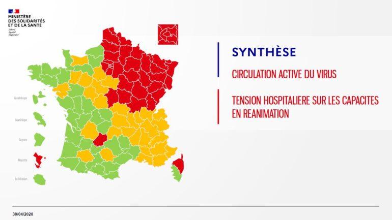 Carte du Coronavirus. Lyon et le Rhône, ni vert, ni rouge… mais orange !