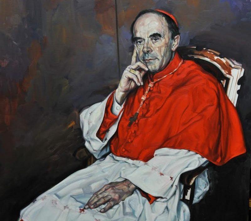 Le peintre Gérard Gasquet signe le cadeau d'adieu du Cardinal Barbarin