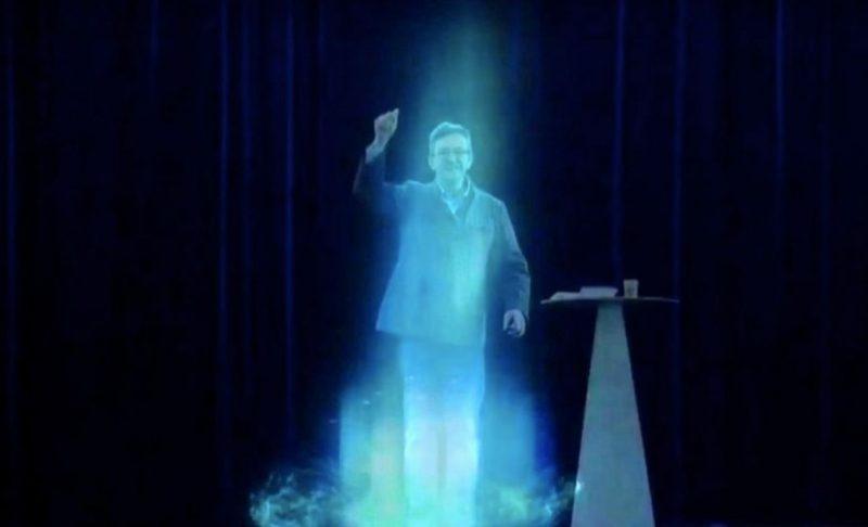 Jean-Luc Mélenchon = Grégory Doucet. L'hologramme qui fait marrer Collomb