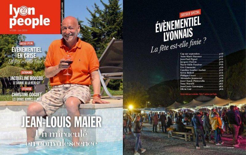 Le « miraculé » Jean-Louis Maier en couverture de Lyon People. Spécial évènementiel en crise