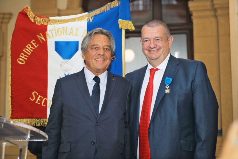 Christophe Marguin, officier dans l'Ordre national du Mérite