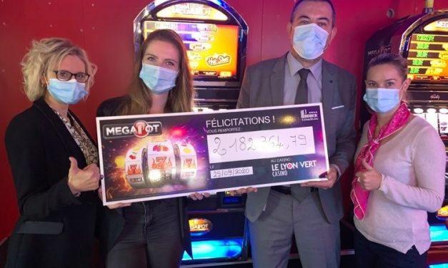 Casino Le Lyon Vert. Jackpot à plus de 2 millions d'euros !
