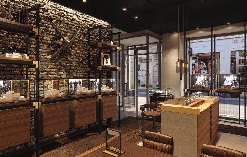 Lyon. Avec sa nouvelle boutique Breitling, Maier se joue des éléments