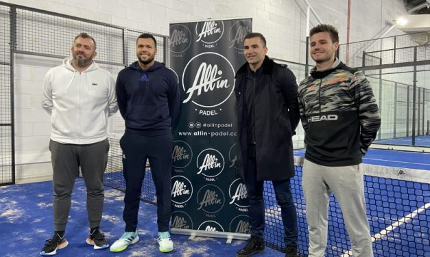 All in Padel. Jo-Wilfried Tsonga et Anthony Lopes inaugurent les nouveaux courts d'OL Vallée