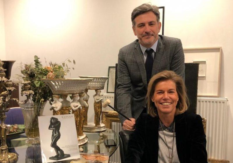Enchères à Lyon. Les commissaires-priseurs Christophe Belleville et Cécile Conan fusionnent