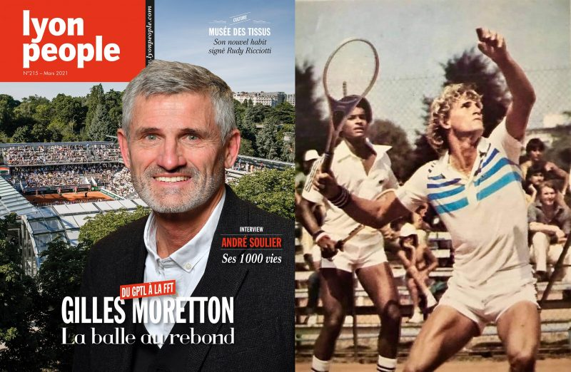 Le nouveau boss de Roland-Garros, Gilles Moretton, en couverture de Lyon People