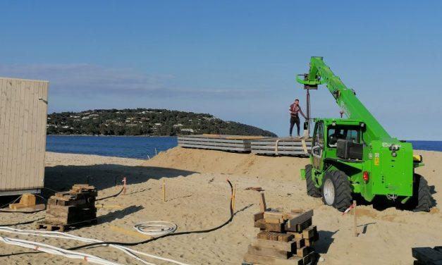 Saint-Tropez. A Pampelonne, les plages privées sont en cours de montage