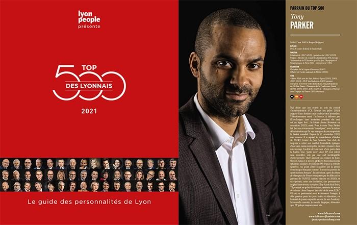 Top 500 des Lyonnais 2021. L'Acte III avec Tony Parker pour parrain