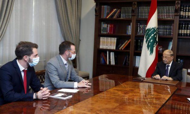 Beyrouth. Le Lyonnais Benjamin Blanchard reçu par le président libanais Michel Aoun