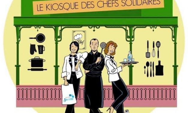 Kiosque des chefs solidaires à Lyon. Fabrice Bonnot récidive place Antonin Poncet