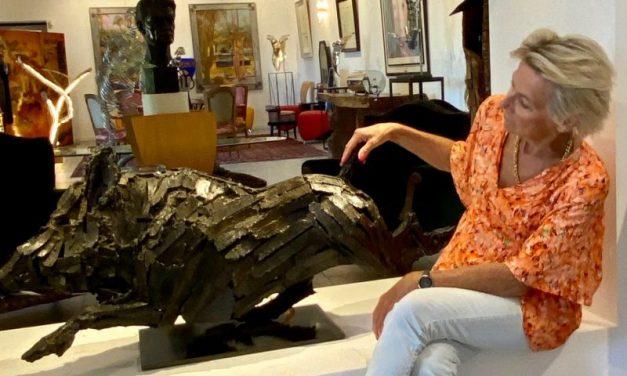 Expo sur gazon dans l'Ain. Visite guidée avec l'artiste Dan Poncet