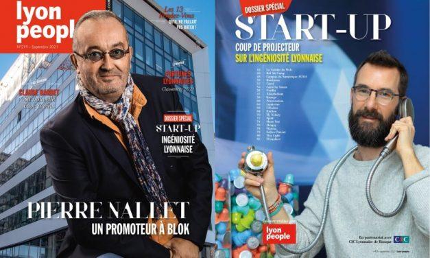 Pierre Nallet et 50 patrons de start-up en Une du nouveau Lyon People